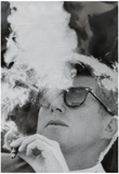 President John F Kennedy Smoking Archival Photo Poster Print Foto