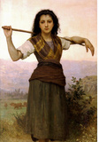 William-Adolphe Bouguereau The Shepherdess Art Print Poster Masterprint