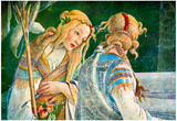 Sandro Botticelli Sistine Chapel The Youth of Moses Detail 2 Art Print Poster Poster