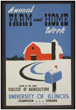University of Illinois (Annual Farm and Home Week) Art Poster Print Poster