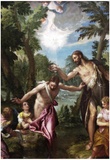 Paolo Veronese The Baptism of Christ Art Print Poster Posters