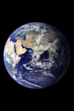 Planet Earth From Space Eastern Hemisphere Black Photo Poster Masterprint