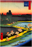 Utagawa Hiroshige Azuma Shrine and Entwined Camphor Prints
