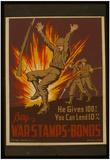 WPA (Buy War Stamps & Bonds) Art Poster Print Posters
