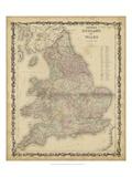 Johnson's Mapa de Inglaterra & Wales Póster