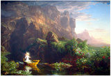 Thomas Cole The Voyage of Life  Childhood Art Print Poster Prints