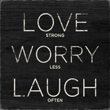 Love, Worry, Laugh Kunstdrucke