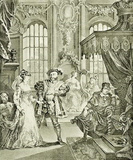 William Hogarth (Henry VIII and Anne Boleyn) Art Poster Print Masterprint