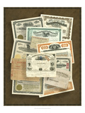 Stock Certificate Collection Prints