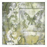 Non-Embld. Butterfly & Ironwork II Print by Jennifer Goldberger