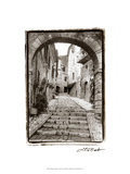 Village Passageway Print by Laura Denardo