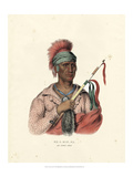 An Ioway Chief Print by  McKenney & Hall