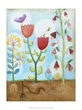 Whimsical Flower Garden I Prints by Megan Meagher