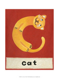 C is for Cat Premium Giclee Print by Chariklia Zarris