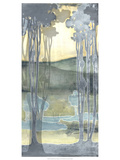 Non-Embellished Nouveau Landscape I Giclee Print by Jennifer Goldberger
