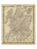 Johnson's Mapa de Escocia Lámina