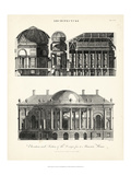 Design for a Mansion Print by J. Wilkes