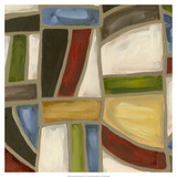 Stained Glass Abstraction I Print by Karen Deans