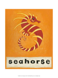 S is for Seahorse Print by Chariklia Zarris