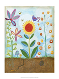 Whimsical Flower Garden II Prints by Megan Meagher