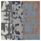 Alphabet Overlay I Giclee Print