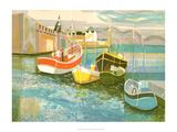 Boats in Harbor II Prints by George Lambert