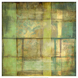 Jennifer Goldberger - Non-Embellish Guilded Turquoise II - Reprodüksiyon