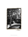 Garden Fountain I Print by Laura Denardo