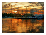 Marina Sunrise III Print by Danny Head