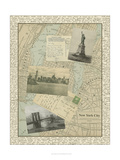 Vintage Map of New York Art by  Vision Studio
