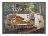Wake Up and Smell the Coffee Giclee Print by Lorraine Vail