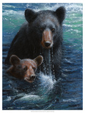 Bearly Swimming Posters by Kevin Daniel