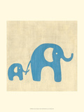 Best Friends - Elephants Premium Giclee Print by Chariklia Zarris