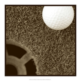 Sepia Golf Ball Study II Art by Jason Johnson