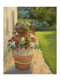 Urns by the Villa Giclee Print by Mary Jean Weber