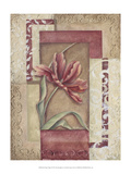 Red Tulip Collage II Prints by Rita Broughton