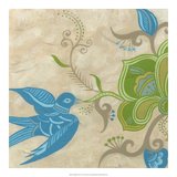 Songbird Fresco I Art by Erica J. Vess