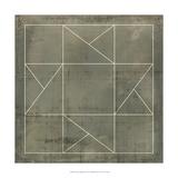 Geometric Blueprint II Plakát