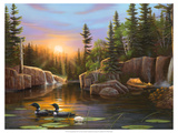 Evening Solitude Premium Giclee Print by Leo Stans