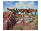 Colored Clay and Quarterhorses Giclee Print by Jack Sorenson