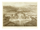 Bird's Eye View of Versailles Giclee Print