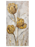 Golden Poppies on Taupe II Plakater av Tim O'toole