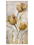 Golden Poppies on Taupe I Art by Tim O'toole