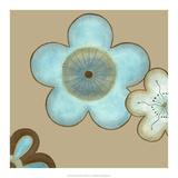 Pop Blossoms in Blue II Prints by Erica J. Vess