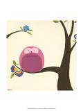 Orchard Owls VI Schilderijen van Erica J. Vess