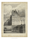 Pavillon de Flore and Pont Royal Print by A. Pugin