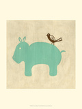 Best Friends - Hippo Posters af Chariklia Zarris