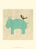 Best Friends - Hippo Prints by Chariklia Zarris