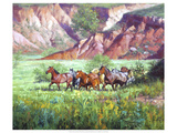 On the Canyon Floor Premium Giclee Print by Jack Sorenson