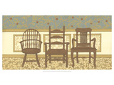 Arts and Crafts Chairs I Premium Giclee Print by Wendy Russell